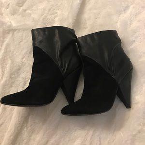 Steve Madden Half Leather Half Suede Boots